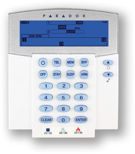 Bezdrátová klávesnice s displejem pro alarm GSM Magellan.