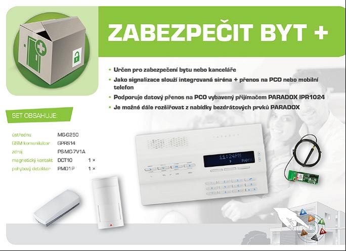 bezdrátový GSM alarm - sestava GSM Magellan MG6250B+ ZABEZPEČIT BYT+