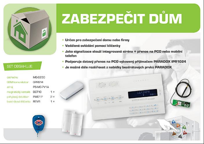 bezdrátový GSM alarm - sestava GSM Magellan MG6250D ZABEZPEČIT DŮM