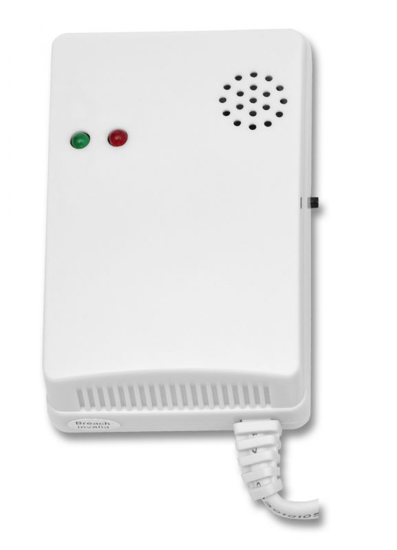 Senzor plyn + LPG - bezdrátový detektor úniku hořlavého plynu Ecolite HF-30WG - čidlo pro GSM alarm Ecolite Crown HF-GSM01B a HF-GSM03